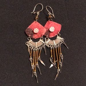 Cute hand made earrings.